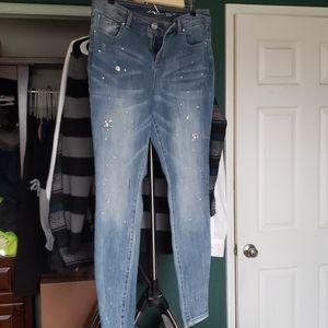 Rhinestone jeans